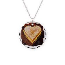 I Love Grilled Cheese Necklace Circle Charm
