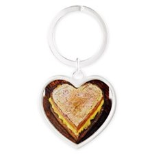 I Love Grilled Cheese Heart Keychain