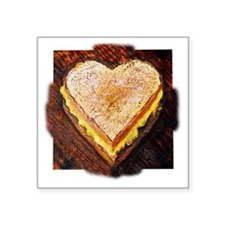 """I Love Grilled Cheese Square Sticker 3"""" x 3"""""""