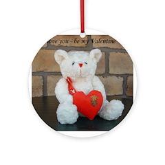 Valentine Teddy Bear Ornament (Round)