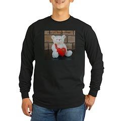 Valentine Teddy Bear Long Sleeve Dark T-Shirt