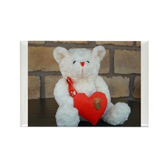 Valentine Teddy Bear Rectangle Magnet (10 pack)