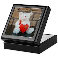 Valentine Teddy Bear Keepsake Box