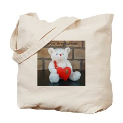 Valentine Teddy Bear Tote Bag