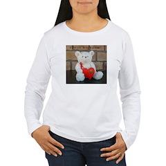 Valentine Teddy Bear Women's Long Sleeve T-Shirt