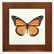 Vintage Butterfly Framed Tile