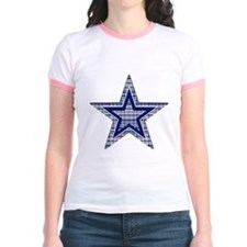 Blue and Silver Plaid T-Shirt