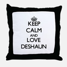 Keep Calm and Love Deshaun Throw Pillow