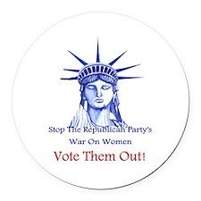 Stop Republicans War On Women Round Car Magnet
