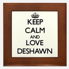 Keep Calm and Love Deshawn Framed Tile