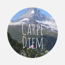 Carpe Diem - Climb a Mountain Ornament (Round)