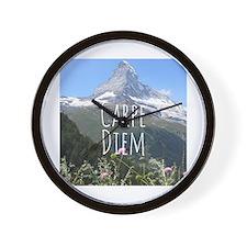 Carpe Diem - Climb a Mountain Wall Clock