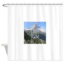 Carpe Diem - Climb a Mountain Shower Curtain
