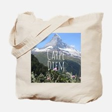 Carpe Diem - Climb a Mountain Tote Bag