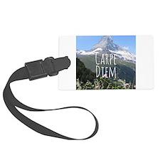 Carpe Diem - Climb a Mountain Luggage Tag