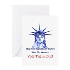 Stop Republicans War On Women Greeting Cards