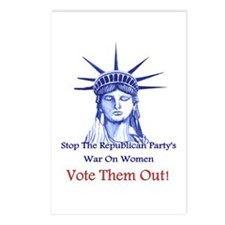 Stop Republicans War On Women Postcards (Package O