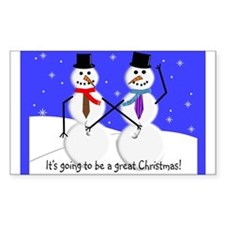 Gay Men Snowmen 2 Decal