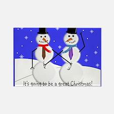 Gay Men Snowmen 2 Magnets