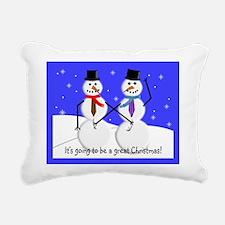 Gay Men Snowmen 2 Rectangular Canvas Pillow