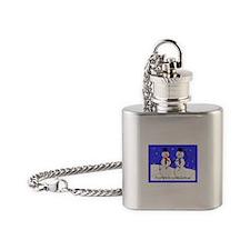 Gay Men Snowmen 2 Flask Necklace