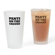 pants on the ground Drinking Glass