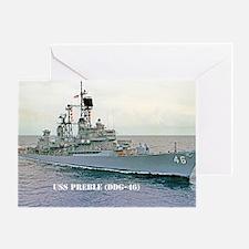 preble ddg large framed print Greeting Card
