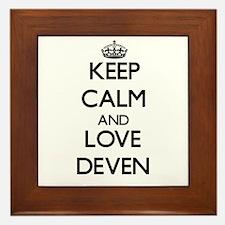 Keep Calm and Love Deven Framed Tile