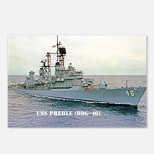 preble ddg framed pane pr Postcards (Package of 8)