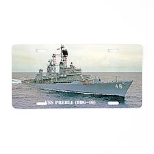 preble ddg post card Aluminum License Plate