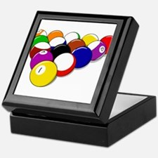 Racked Pool Balls Keepsake Box