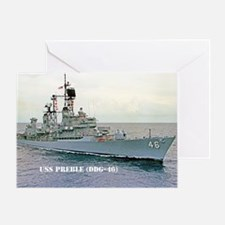 preble ddg small poster Greeting Card