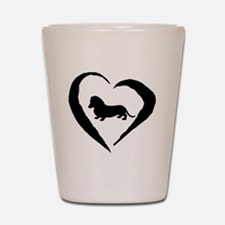 Wiener1 Heart Shot Glass