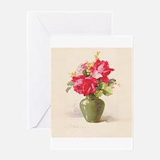 Catherine Klein Vase of Roses Greeting Cards