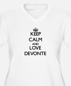 Keep Calm and Love Devonte Plus Size T-Shirt