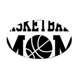 Basketball mom Oval Car Magnets