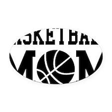 basketball-mom Oval Car Magnet