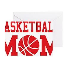 basketball-mom-red Greeting Card