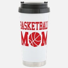 basketball-mom-red Travel Mug