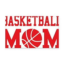 basketball-mom-red Rectangle Car Magnet