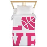 Pink basketball Twin Duvet Covers
