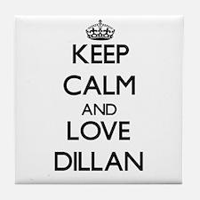 Keep Calm and Love Dillan Tile Coaster