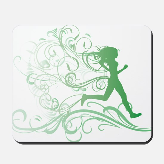 green_runner_girl Mousepad