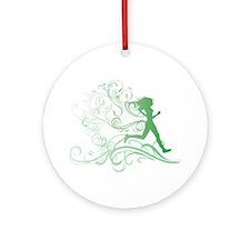 green_runner_girl Round Ornament