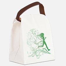 green_runner_girl Canvas Lunch Bag