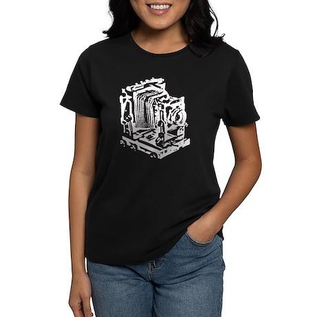 Ebony Large Format Camera Women's Dark T-Shirt