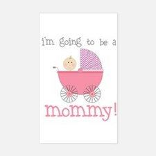mommy to be (front only) Rectangle Decal