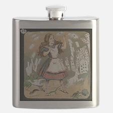 alice magic lantern slide Flask