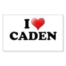 I LOVE CADEN T-SHIRT CADEN SH Sticker (Rectangular