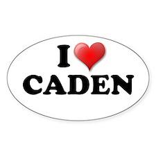 I LOVE CADEN T-SHIRT CADEN SH Oval Decal
